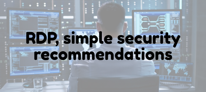 RDP, simple security recommendations
